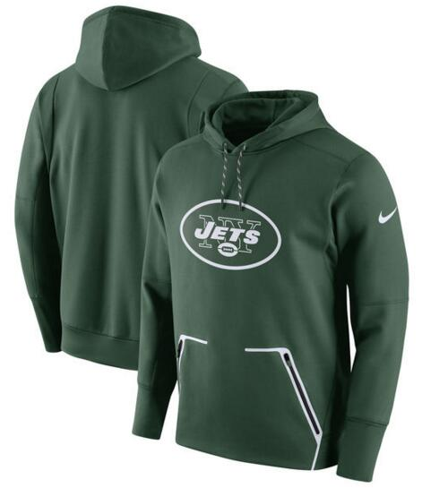 Men's Nike New York Jets Green Champ Drive Vapor Speed Pullover Hoodie