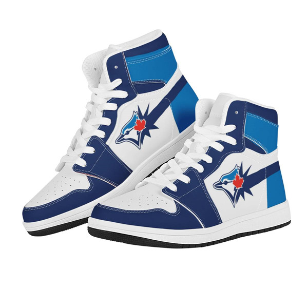 Men's Toronto Blue Jays AJ High Top Leather Sneakers 001