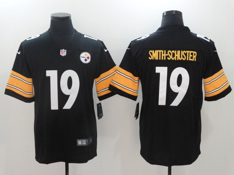 Men's Nike Pittsburgh Steelers #19 JuJu Smith-Schuster Black Vapor Untouchable Limited Stitched NFL Jersey