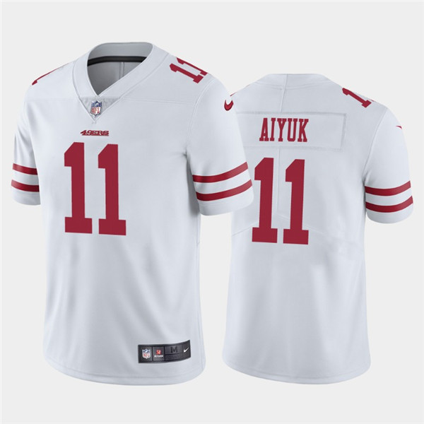 Men's San Francisco 49ers #11 Brandon Aiyuk 2020 White Draft Vapor Limited Stitched NFL Jersey
