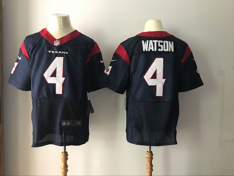 Men's Houston Texans #4 Deshaun Watson Nike Navy 2017 Elite Stitched NFL Jersey