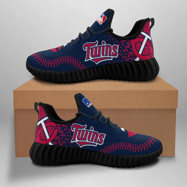 Women's MLB Minnesota Twins Lightweight Running Shoes 003