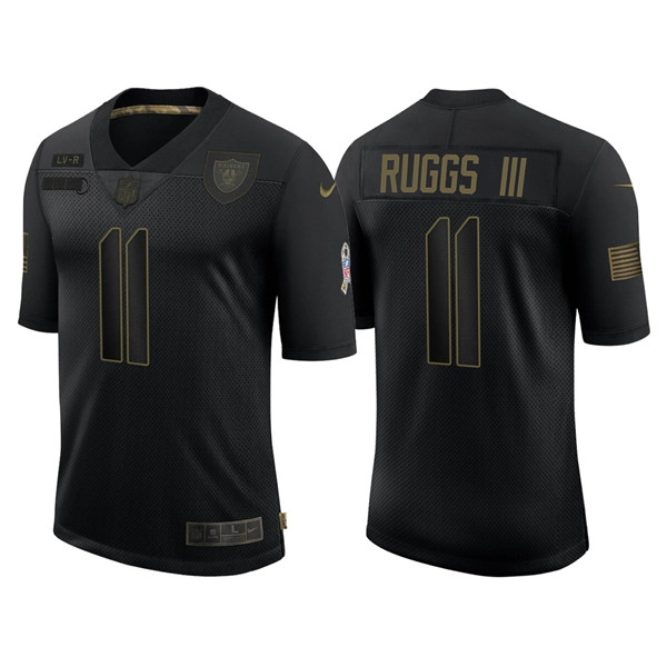 Men's Las Vegas Raiders #11 Henry Ruggs III Black 2020 Salute To Service Limited Stitched NFL Jersey