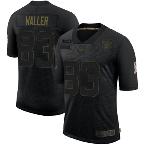 Men's Las Vegas Raiders #83 Darren Waller Black 2020 Salute To Service Limited Stitched NFL Jersey