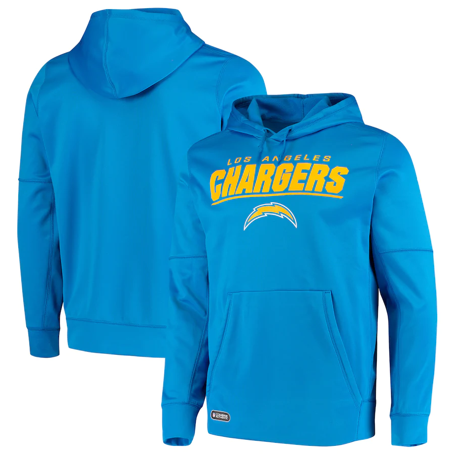 Men's Los Angeles Chargers Blue Combine Stated Pullover Hoodie
