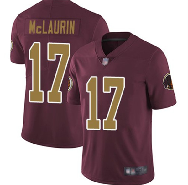 Men's Washington Football Team #17 Terry McLaurin Red Color Rush Limited Stitched NFL Jersey