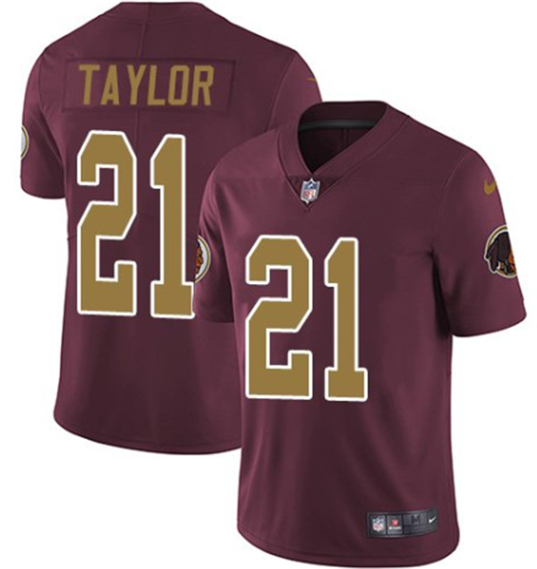 Men's Washington Football Team #21 Sean Taylor Red Color Rush Limited Stitched NFL Jersey