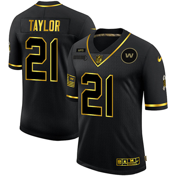 Men's Washington Football Team #21 Sean Taylor 2020 Black/Gold Salute To Service Limited Stitched NFL Jersey