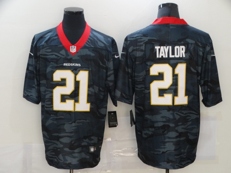 Men's Washington Football Team #21 Sean Taylor 2020 Camo Salute To Service Limited Stitched NFL Jersey