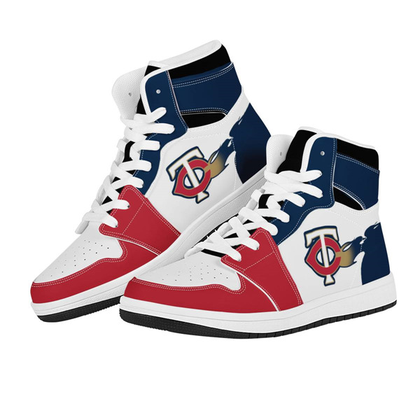 Men's Minnesota Twins AJ High Top Leather Sneakers 002