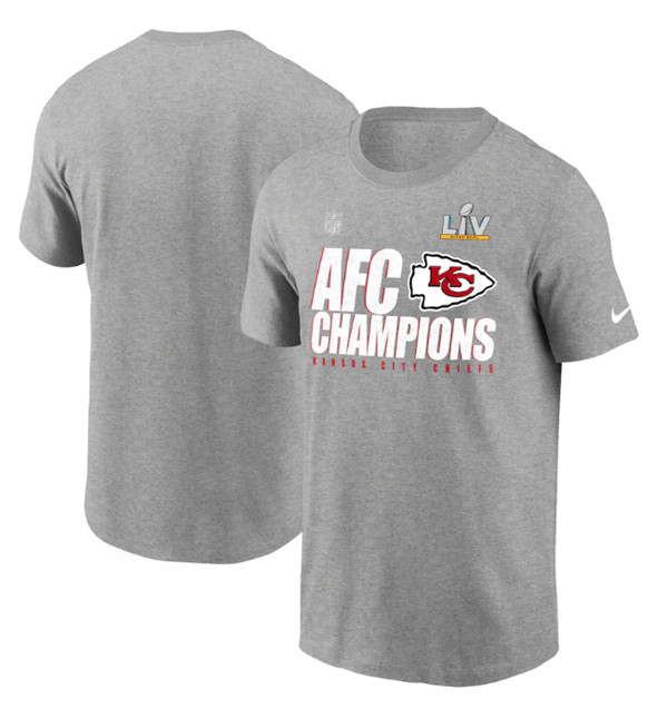 Men's Kansas City Chiefs 2021 Grey Champions Locker Room Trophy Collection NFL T-Shirt