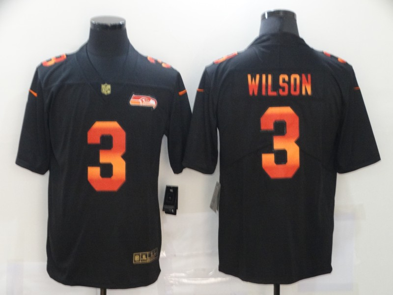 Men's Seattle Seahawks #3 Russell Wilson 2020 Black Fashion Limited Stitched NFL Jersey