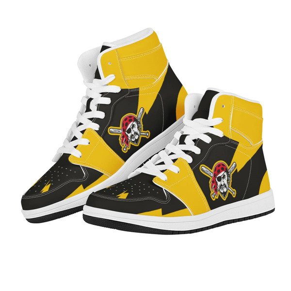 Men's Pittsburgh Pirates AJ High Top Leather Sneakers 001