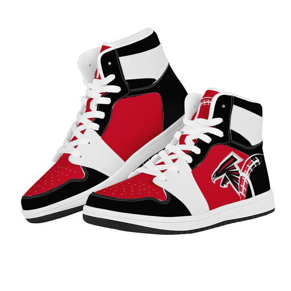 Men's Atlanta Falcons AJ High Top Leather Sneakers 003