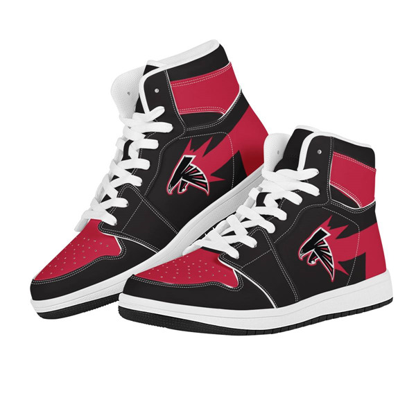 Men's Atlanta Falcons AJ High Top Leather Sneakers 002