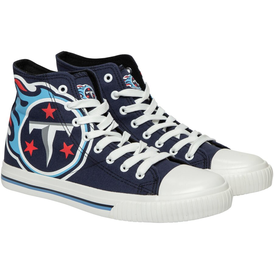 Women and Youth NFL Tennessee Titans Repeat Print High Top Sneakers 0021