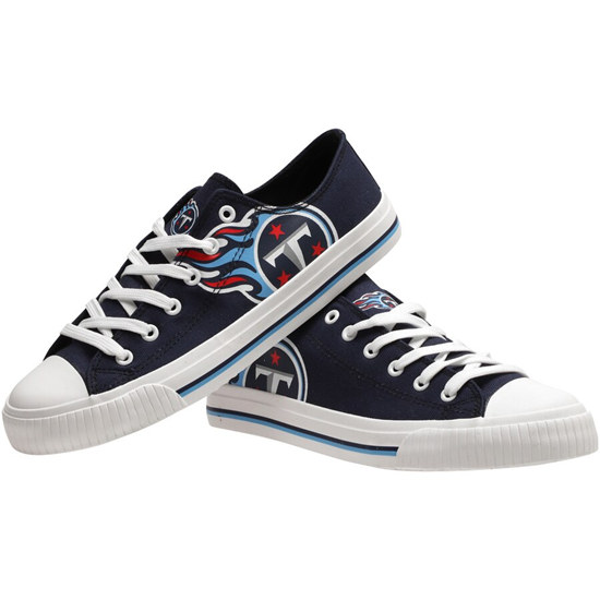 Men's NFL Tennessee Titans Repeat Print Low Top Sneakers 002