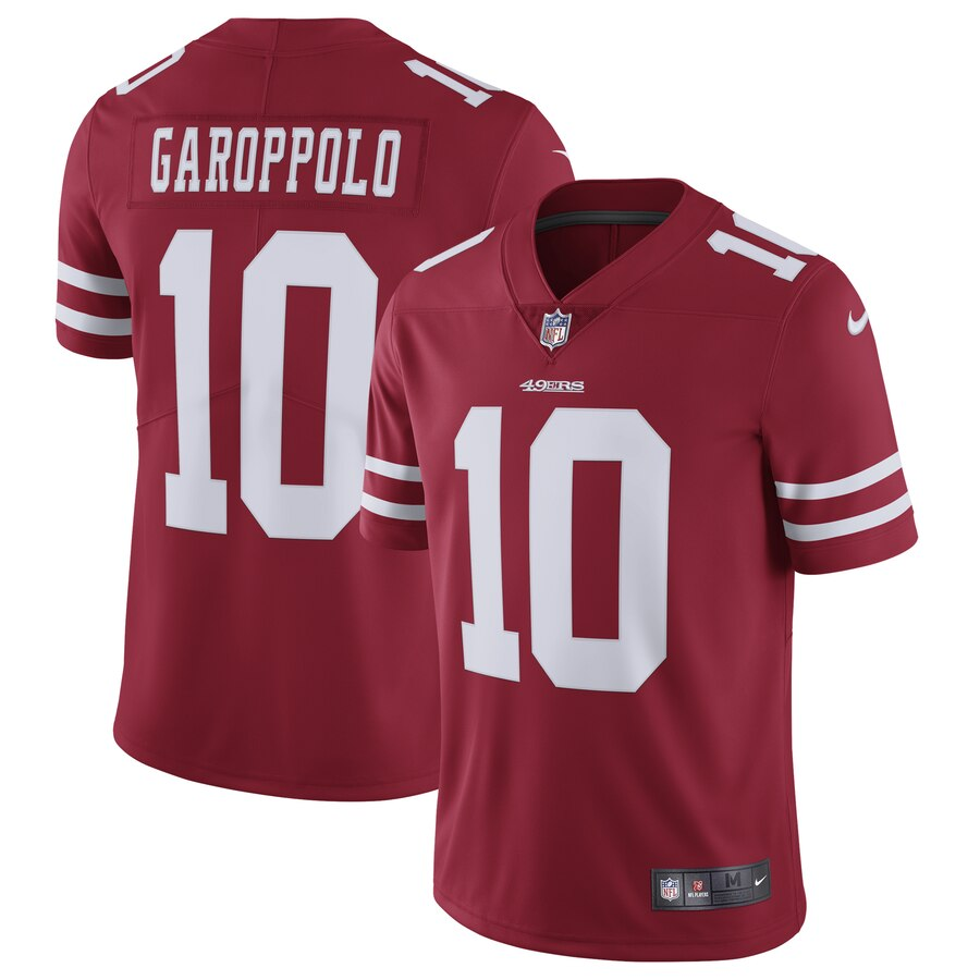 Men's Nike San Francisco 49ers #10 Jimmy Garoppolo Red Vapor Untouchable Limited Stitched NFL Jersey