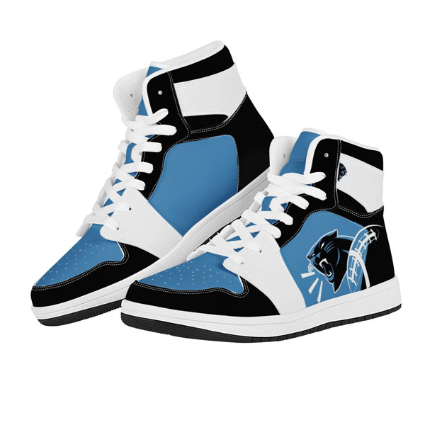 Men's Carolina Panthers AJ High Top Leather Sneakers 003