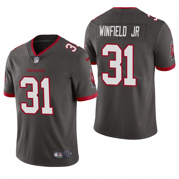 Men's Tampa Bay Buccaneers #31 Antoine Winfield Jr. New Grey Vapor Untouchable Limited Stitched NFL Jersey