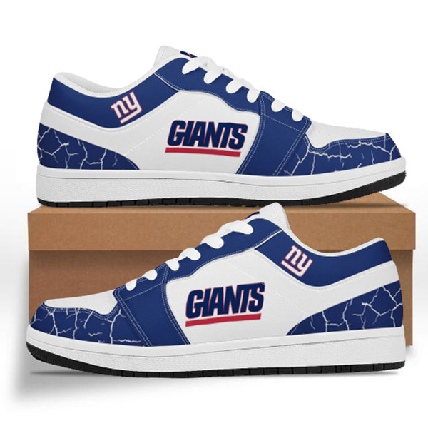 Men's New York Giants AJ Low Top Leather Sneakers 001
