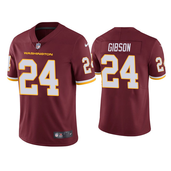 Men's Washington Football Team Red #24 Antonio Gibson Red Vapor Untouchable Limited Stitched NFL Jersey