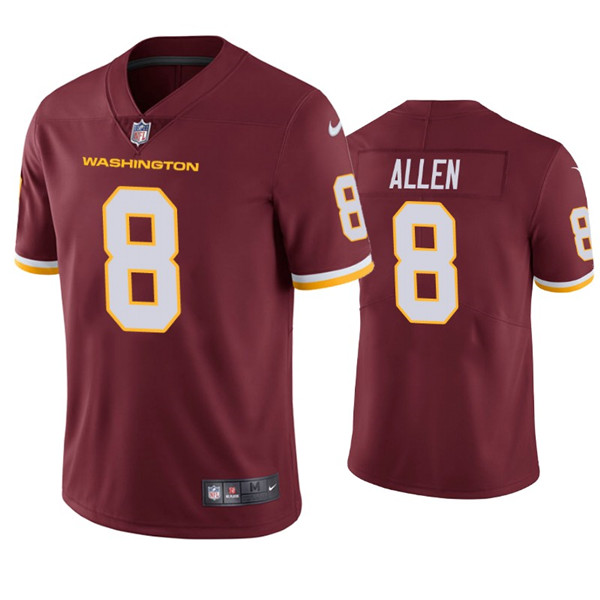 Men's Washington Football Team Red #8 Kyle Allen Red Vapor Untouchable Limited Stitched NFL Jersey