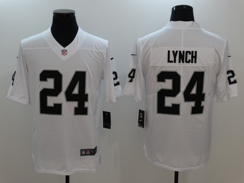 Men's Oakland Raiders #24 Marshawn Lynch White Vapor Untouchable Limited Stitched NFL Jersey
