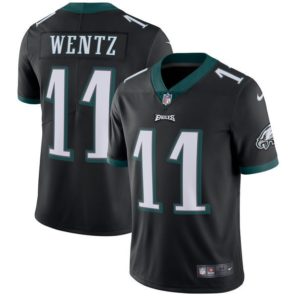 Men's Philadelphia Eagles #11 Carson Wentz Nike Black Vapor Untouchable Limited Stitched NFL Jersey