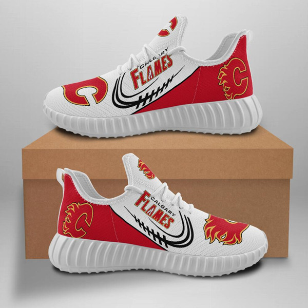 Men's NHL Calgary Flames Lightweight Running Shoes 001