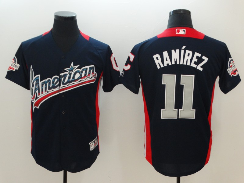 American League #11 Jose Ramirez Navy 2018 MLB All-Star Game Home Run Derby Jersey
