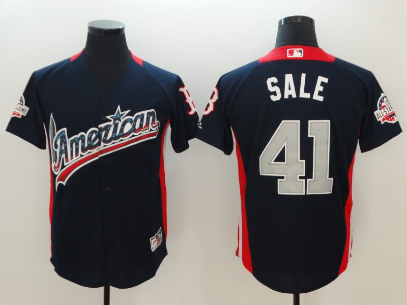 American League #41 Chris Sale Navy 2018 MLB All-Star Game Home Run Derby Jersey