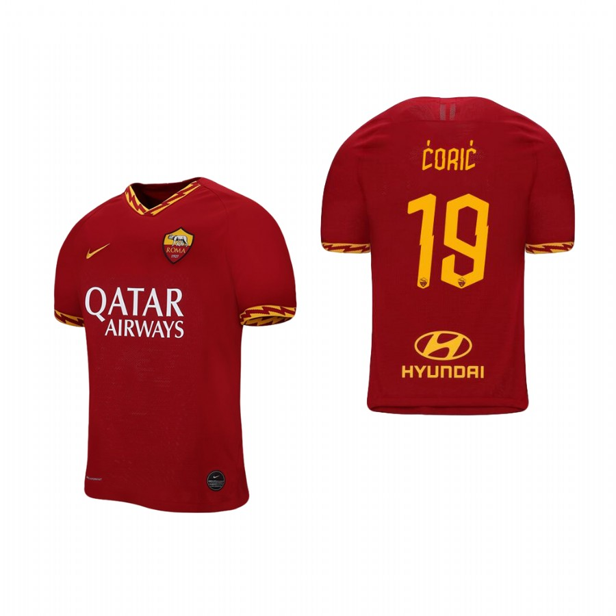 Men's Roma #19 Ante Coric Red 2019 Soccer Club Home Official Jersey