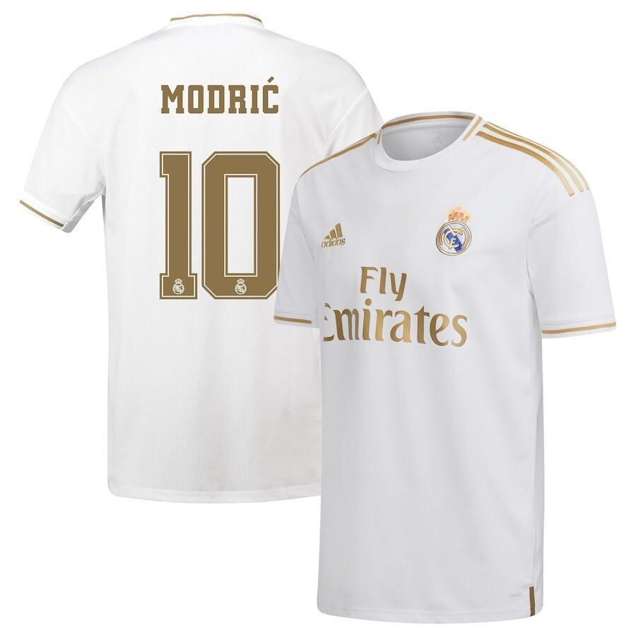 Men's Real Madrid #10 Luka Modric White Soccer Jersey 003
