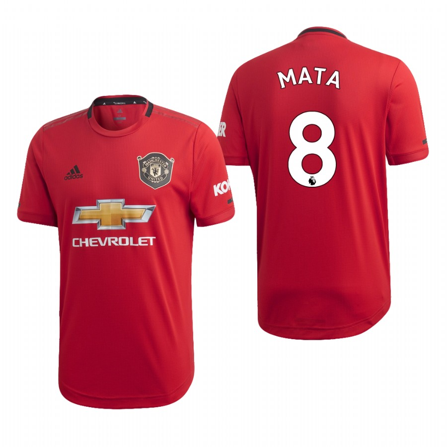 Men's Manchester United #8 Juan Mata Red 2019 Soccer Club Home Official Jersey