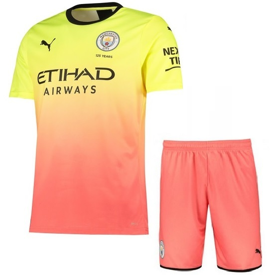 Men's Manchester City 2019/2020 Third Kit Jersey(With Shorts)