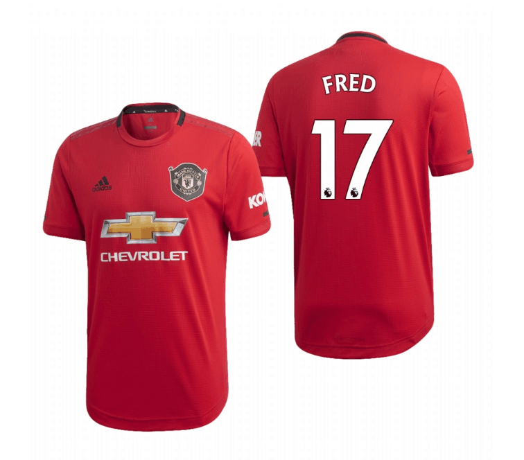 Men's Manchester United #17 Fred Red 2019 Soccer Club Home Official Jersey