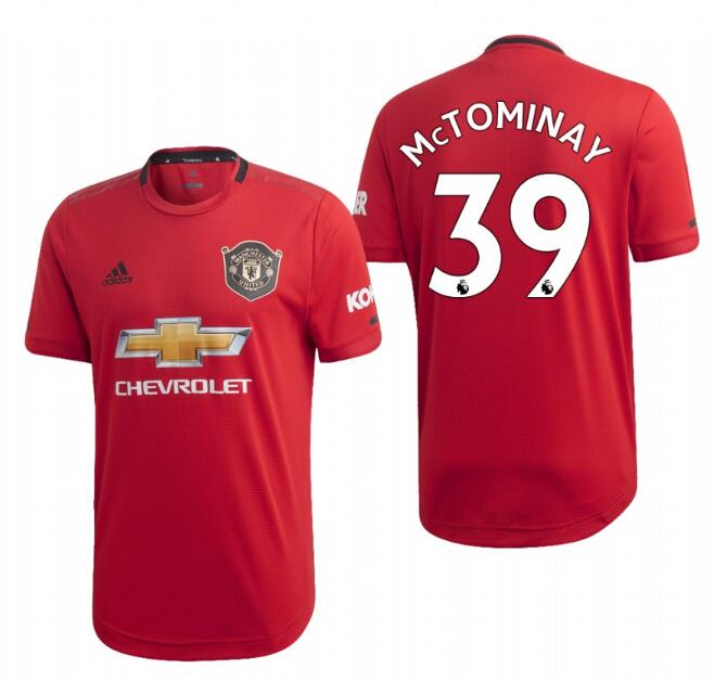 Men's Manchester United #39 Scott Mctominay Red 2019 Soccer Club Home Official Jersey