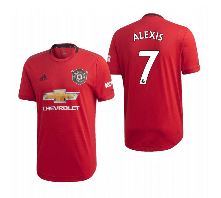 Men's Manchester United #7 Alexis Sanchez Red 2019 Soccer Club Home Official Jersey