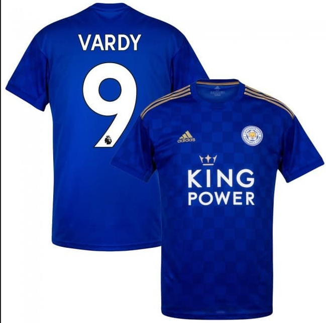 Men's Leicester City #9 Jamie Vardy Blue Jersey