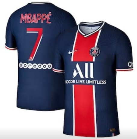 Men's France #7 Kylian Mbappé 2019/20 Home Paris Saint-Germain Vapor Match Navy Jersey