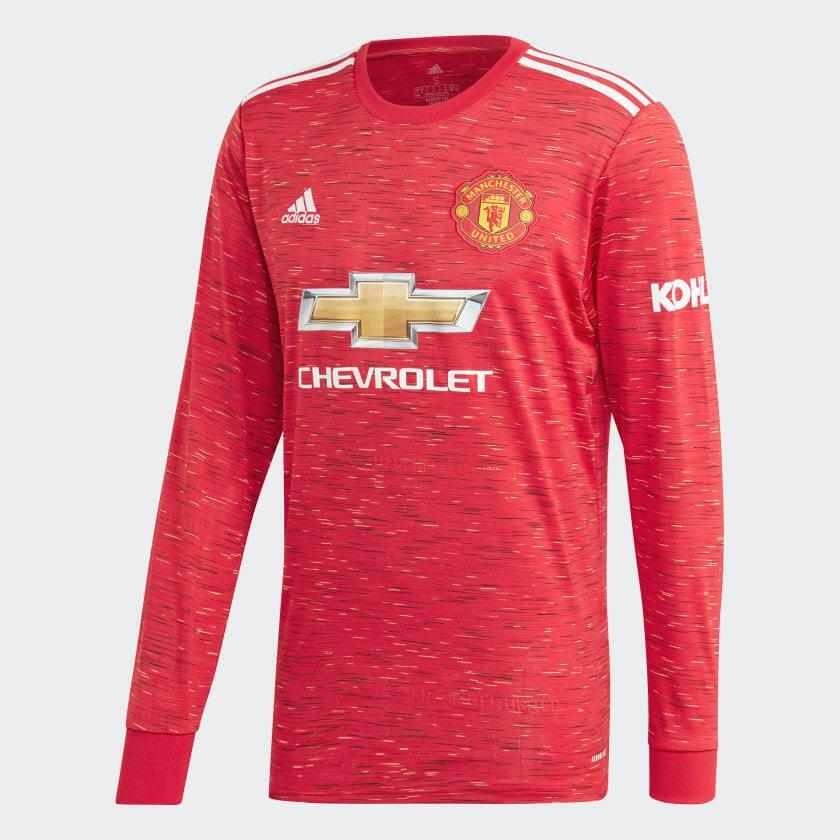 Men's Manchester United Red Soccer Club Long Sleeve Jersey