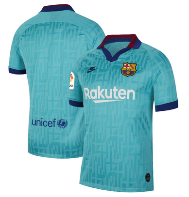 Barcelona Nike 2019/20 Third Stadium Jersey - Blue