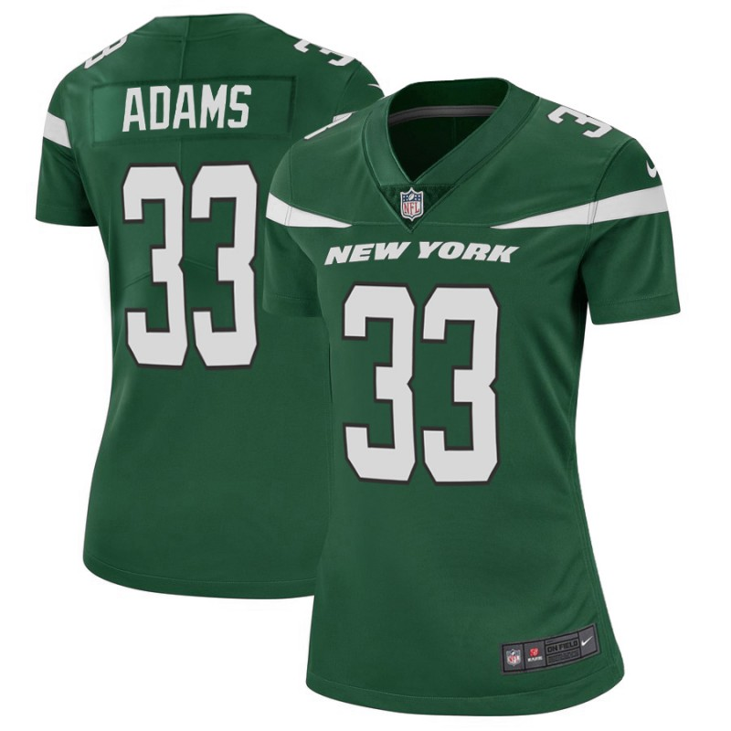 Women's New York Jets #33 Jamal Adams Green Vapor Untouchable Limited Stitched NFL Jersey