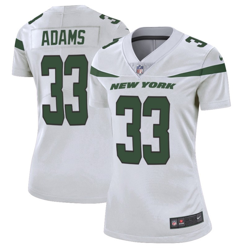 Women's New York Jets #33 Jamal Adams White Vapor Untouchable Limited Stitched NFL Jersey