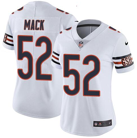 Women's Nike Chicago Bears #52 Khalil Mack White Untouchable Limited Stitched NFL Jersey