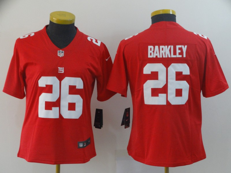 Women's New York Giants #26 Saquon Barkley Red Vapor Untouchable Limited Stitched NFL Jersey(Run Small)