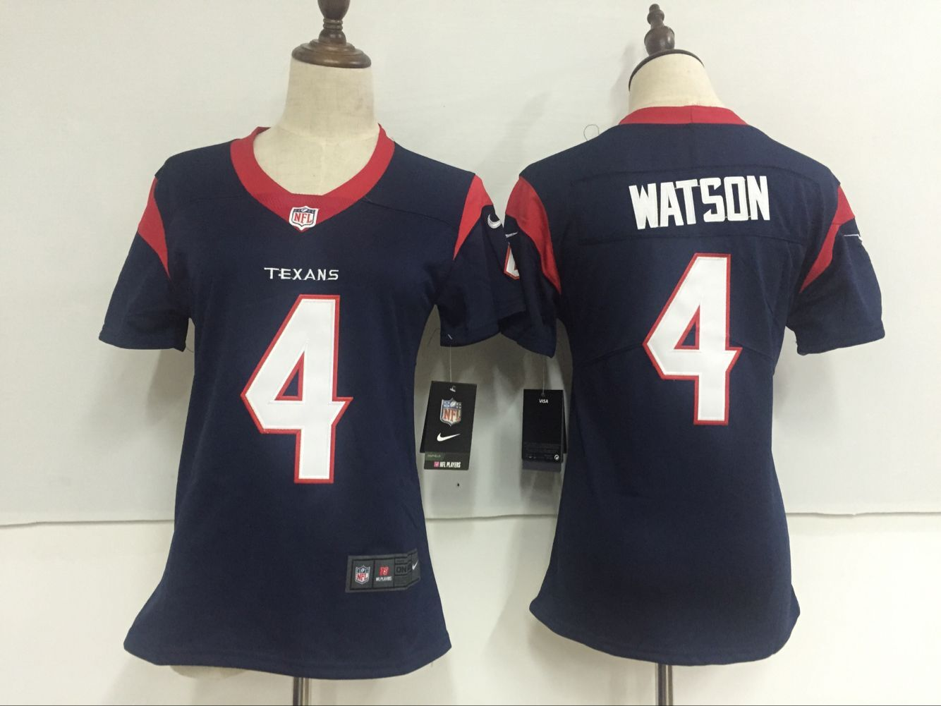 Women's Nike Houston Texans #4 Deshaun Watson Navy Blue Team Color Stitched NFL Vapor Untouchable Limited Jersey