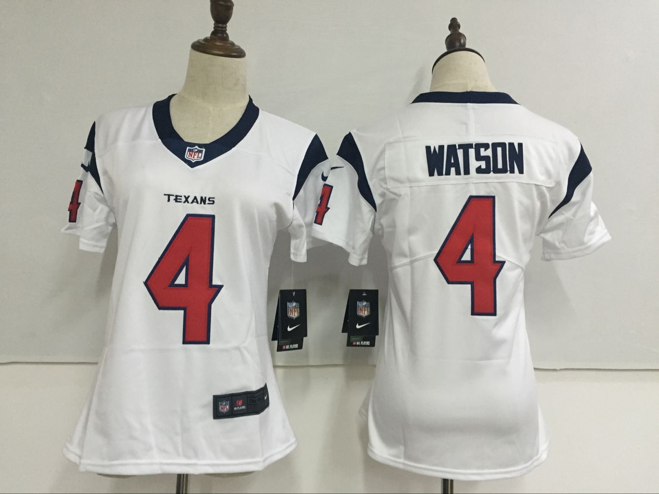 Women's Nike Houston Texans #4 Deshaun Watson White Stitched NFL Vapor Untouchable Limited Jersey