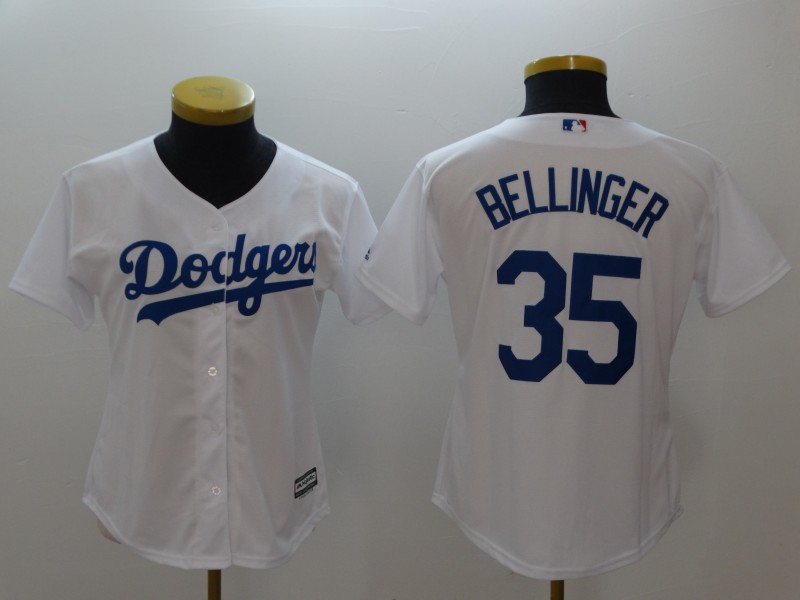 Women's Los Angeles Dodgers #35 Cody Bellinger White Cool Base Stitched MLB Jersey